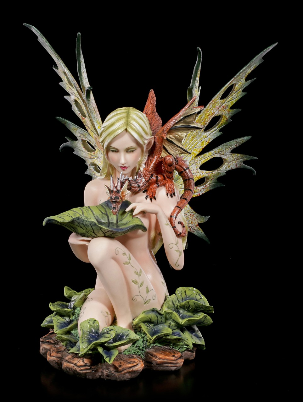Elfen Figur - Lauriel gibt Drachen zu trinken
