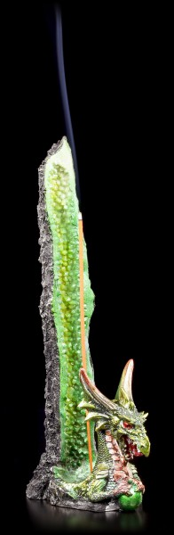 Incense Stick Holder Dragon - Emerald's Stalagmite - Green