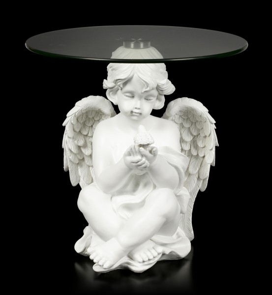 Small Side Table - White Angel