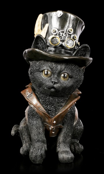 Katzen Figur - Steampunk Cogsmiths Cat