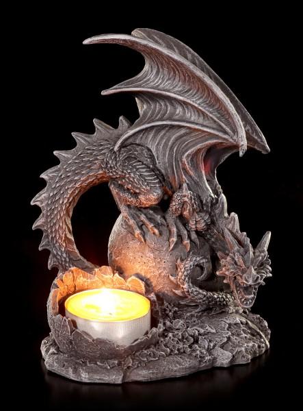 Drachen Teelichthalter - Dragon Lair rechts