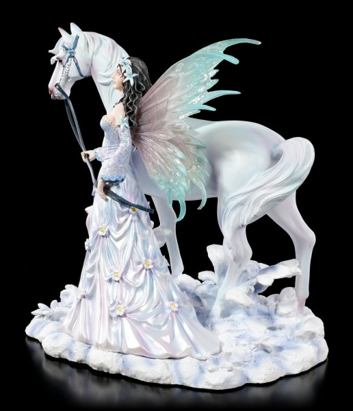 Fairy Figurine with Horse - Winter Wings by Nene Thomas