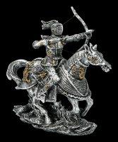 Reitende Ritter Figur mit Pfeil und Bogen