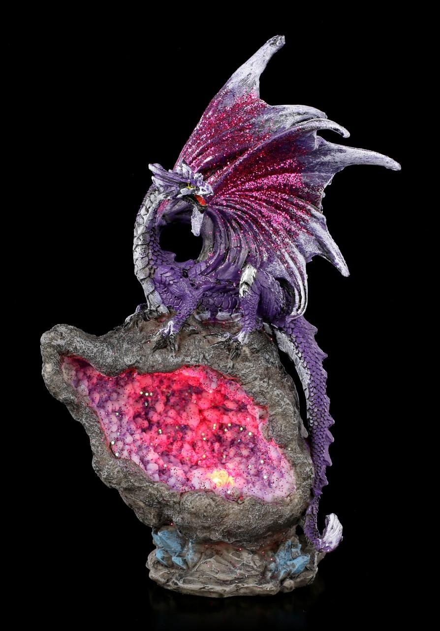 Dragon Figurine LED - Amethyst Custodian