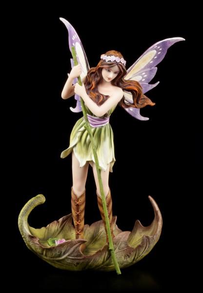 Elfen Figur - Charona auf Blatt Boot