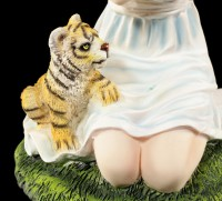 Angel Figurine - Nariel with Tiger Babies