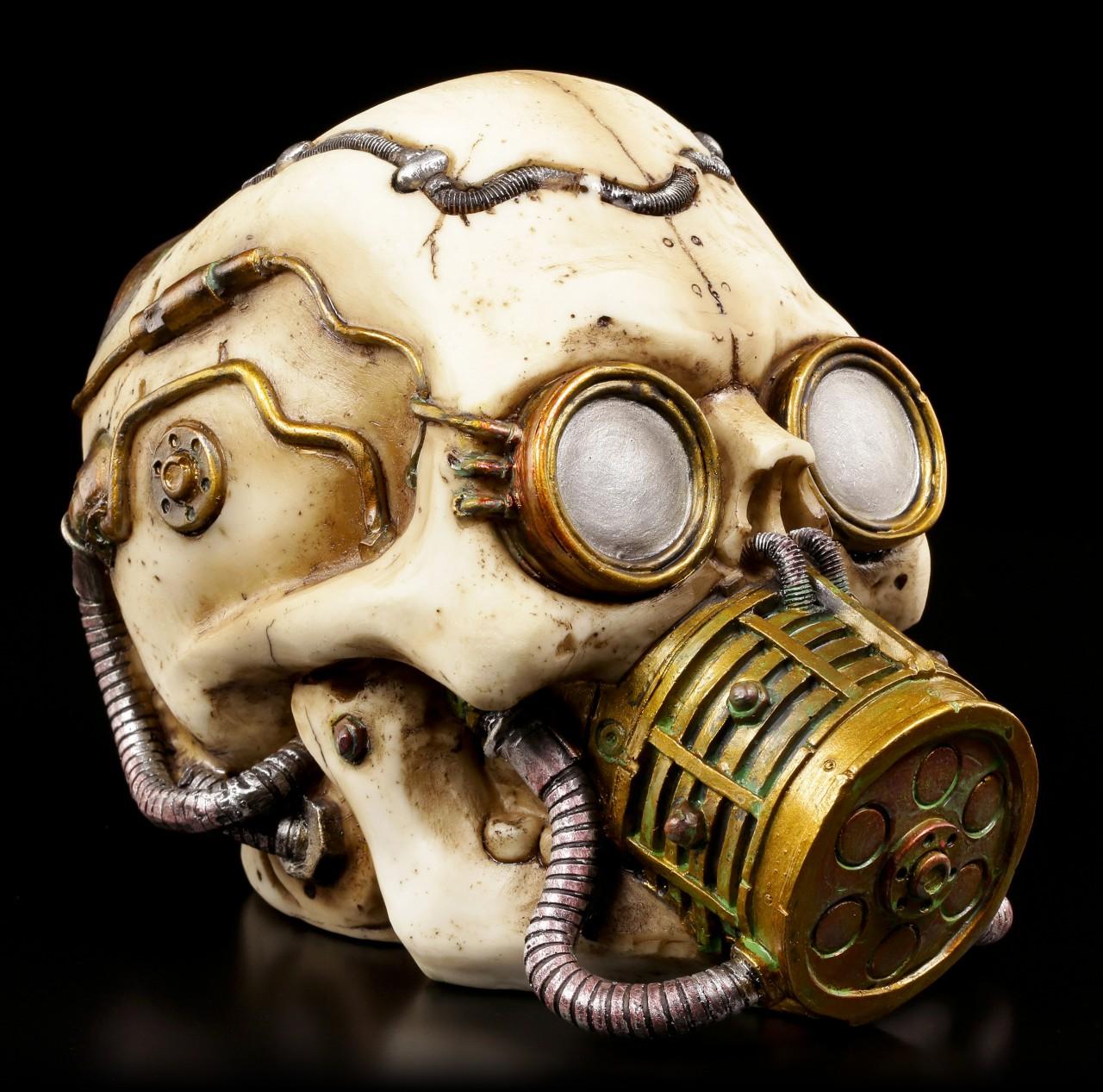 Steampunk Totenkopf mit Gasmaske