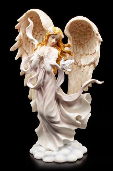 Angel Figurine - Angelica with Pigeons