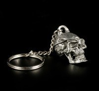 Zinn Totenkopf Schlüsselanhänger - Piratenschädel