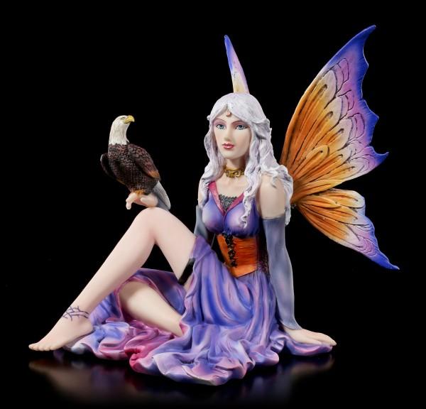 Fairy Figurine - Salma sitting with Eagle