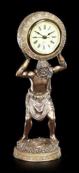 Atlas Figurine with Clock