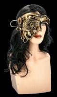 Steampunk Maske - Golden Wheels