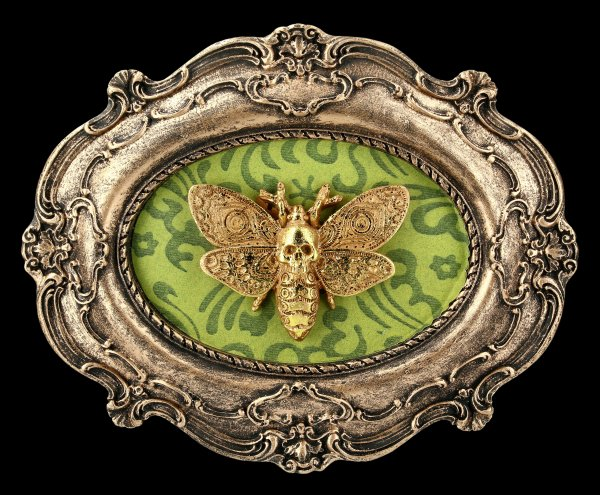 Barockes Wandrelief - Moth Macabre - oval