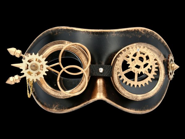 Steampunk Maske - Turning Wheel