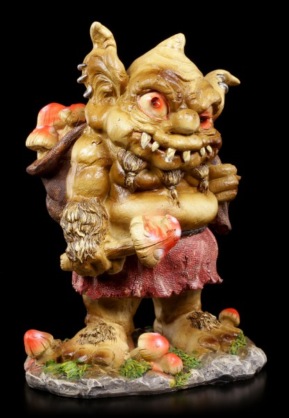 Troll Figur - Rakash mit Sack voller Fliegenpilze