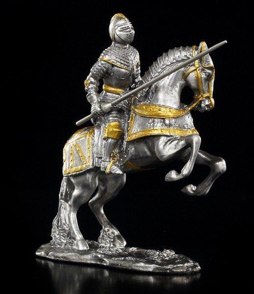 Zinn Ritter auf Pferd mit Lanze