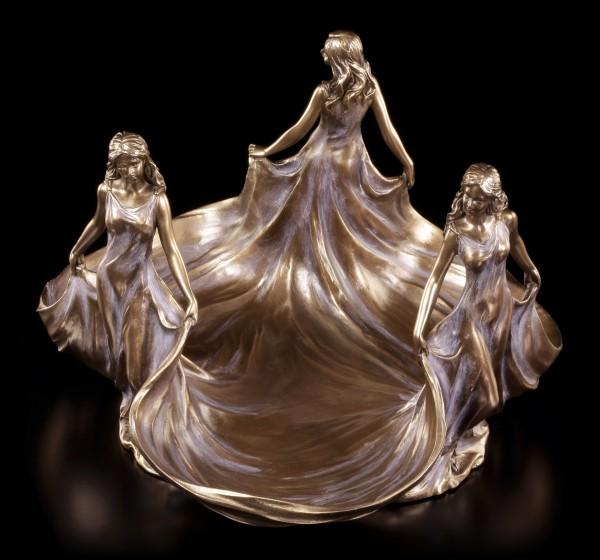 Jugendstil Schale - Drei Jungfrauen