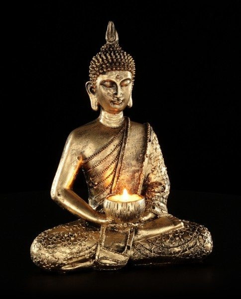 Tealight Holder - Sitting Thai Buddha