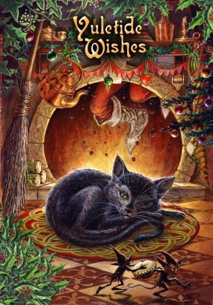 Vorschau: Fantasy Weihnachtskarte - T'was the Night before Yule