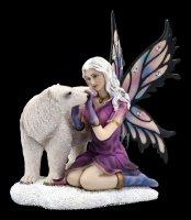 Fairy Figurine with Gemstones - Eria with Ice Bear