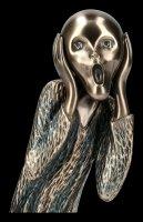 Der Schrei Figur nach Edvard Munch