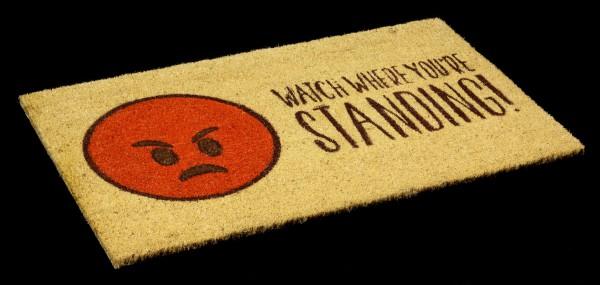 Lustige Fußmatte mit Emoji - Watch where you're standing