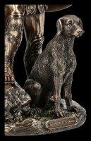 Odysseus Figur mit seinem Hund Argos