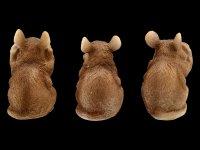 Mouse Figurines - No Evil