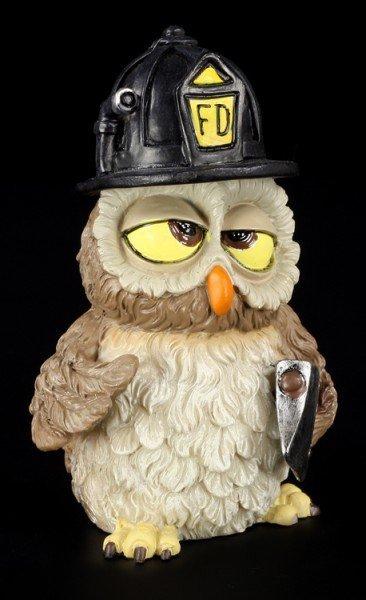 Firefighter - Funny Owl Figurine