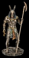 Seth Figurine - Holding Ankh and Was Scepter