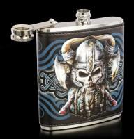 Hip Flask with Viking Skull - Danegeld