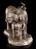 Highland Cow and Calf Figurine