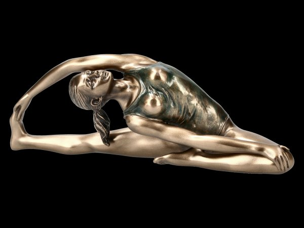 Female Yoga Figurine - Parivrtta Janu Sirsasana Position