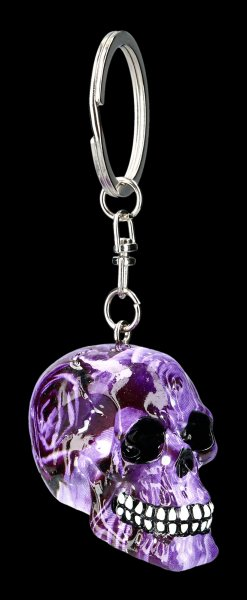 Keyring Skull - Purple Romance
