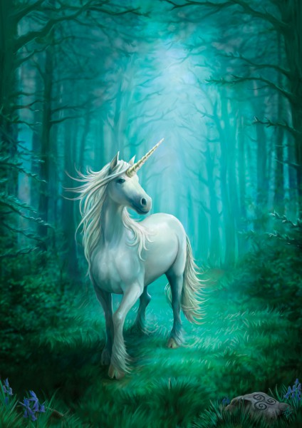 Fantasy Greeting Card - Forest Unicorn