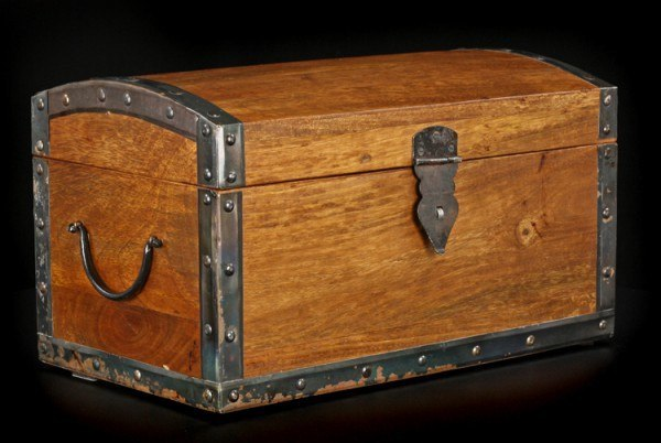 Large Medieval Treasure Chest