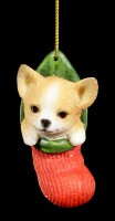 Christmas Tree Decoration Dog - Chihuahua in Stocking