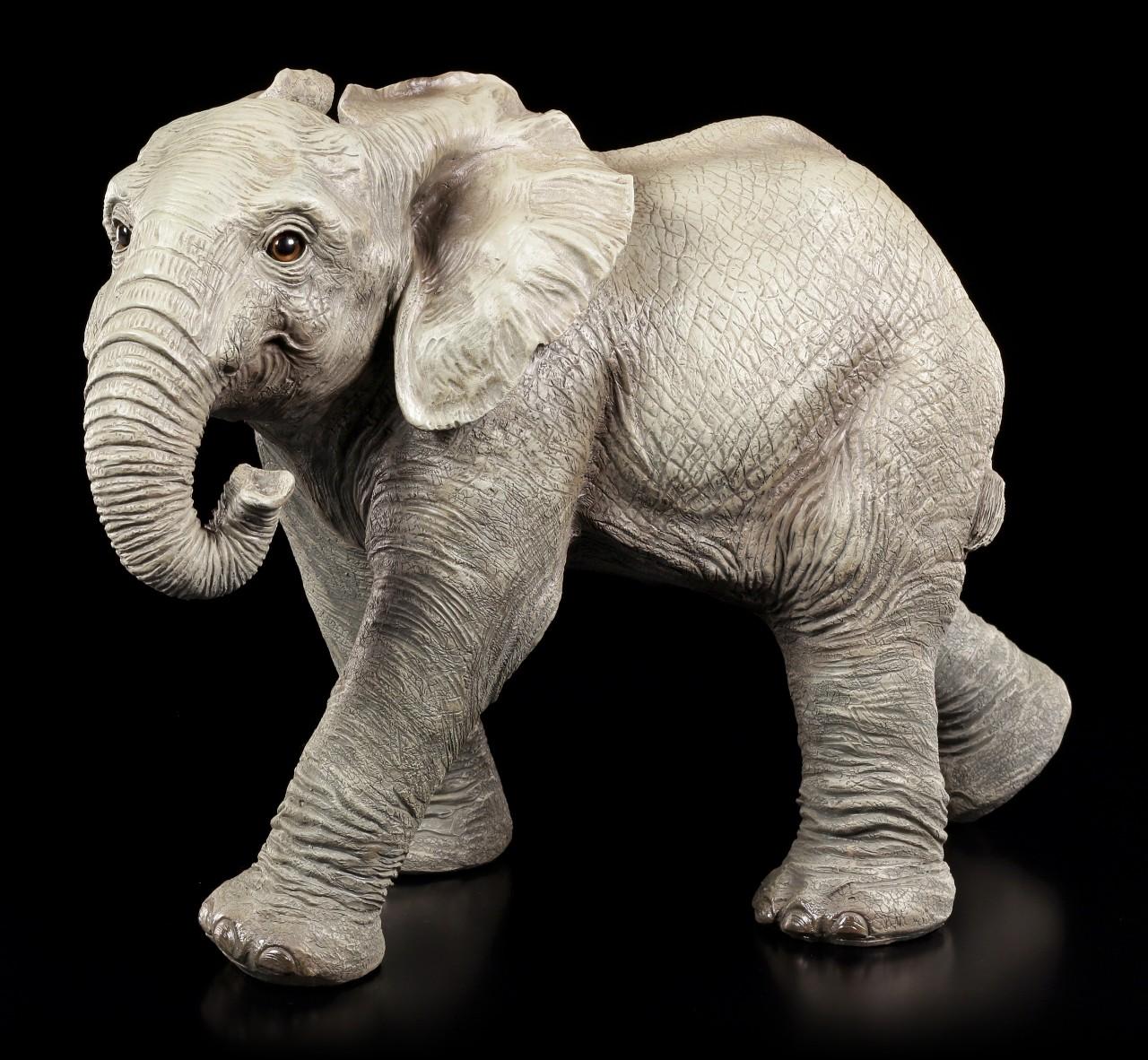 Gartenfigur - Elefant laufend