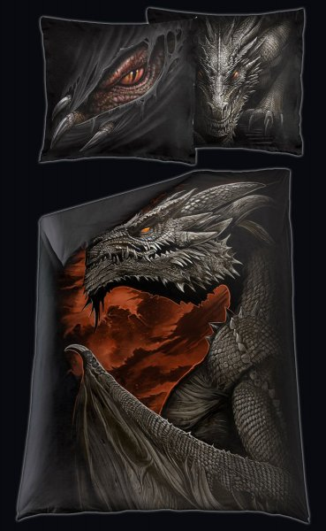 Majestic Draco - Single Duvet Cover with Pillow Case