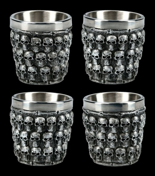 Skull Shot Glasses - Last Shot - Set of 4