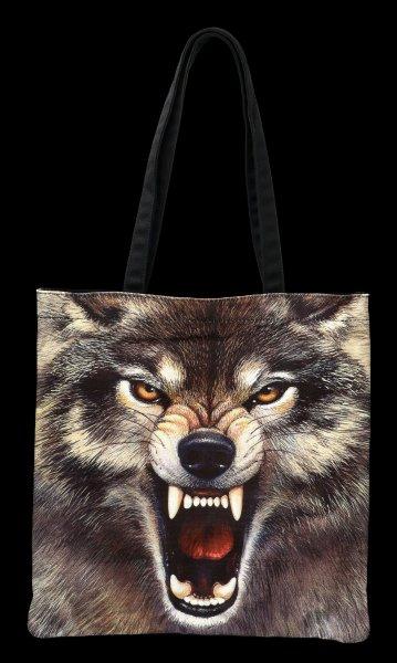 Tragetasche - Agressiver Wolf