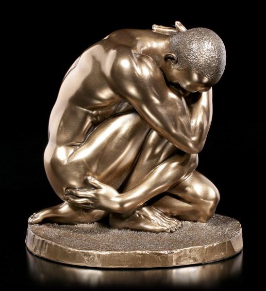 Male Nude Figurine - Hugs himself
