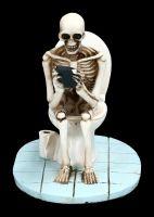 Skeleton Figurine - Sits on Toilet
