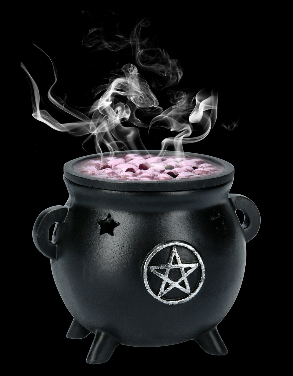 Incense Cone Holder - Pentagram Cauldron
