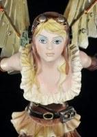 Steampunk Engel Figur - Cordelia mit Gargoyle - groß