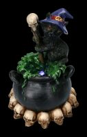 Hexen Katzenfigur mit LED - Spook braut Zaubertrank