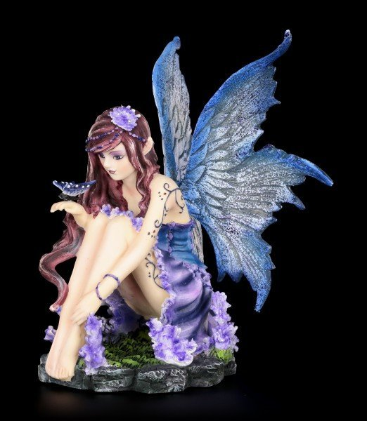 Fairy Figurine - Azure admires Butterfly