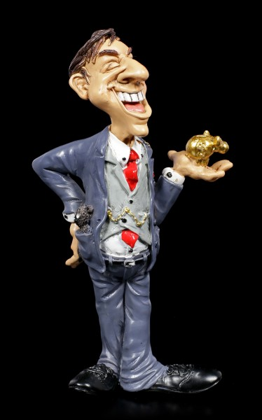 Funny Job Figurine - Businessman with Gold Pig