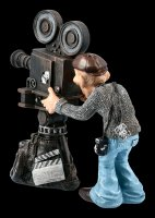 Funny Jobs Figurine - Cameraman with old Cine Camera