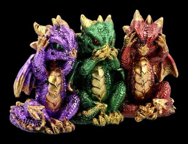 Bunte Drachen Figur - Nichts Böses